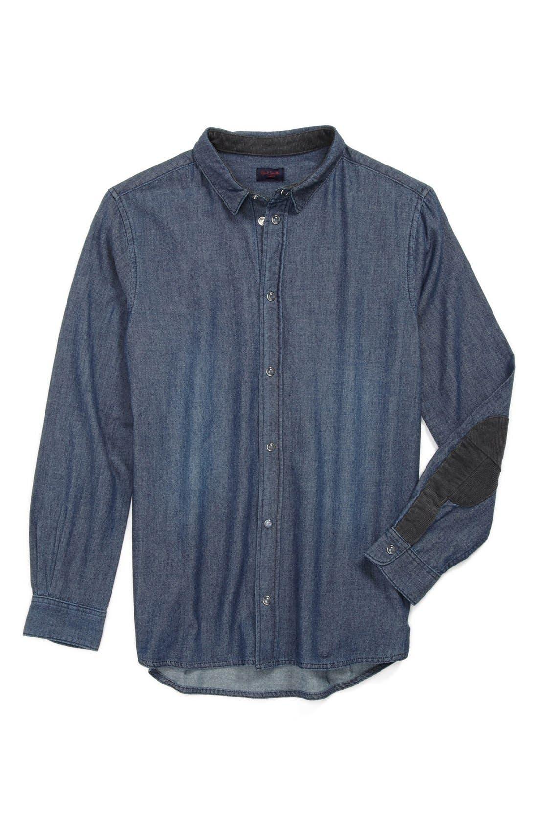 Alternate Image 1 Selected - Paul Smith Junior 'Enock' Denim Shirt (Toddler Boys)
