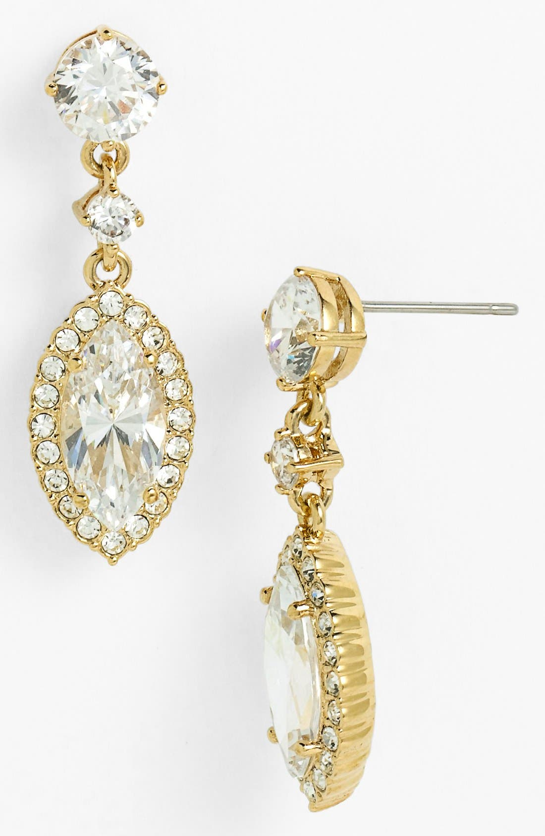 Alternate Image 1 Selected - Nadri 'Marquise' Cubic Zirconia Drop Earrings