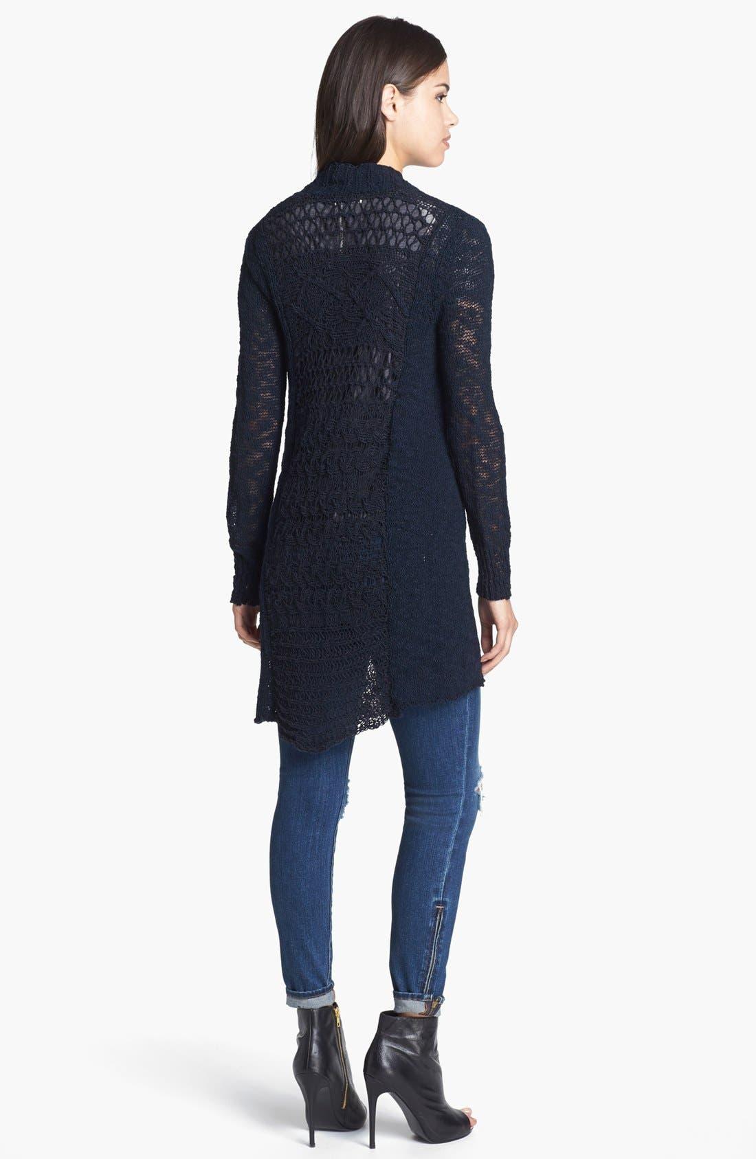 Alternate Image 4  - Lucky Brand 'Alonsa' Mixed Knit Cardigan