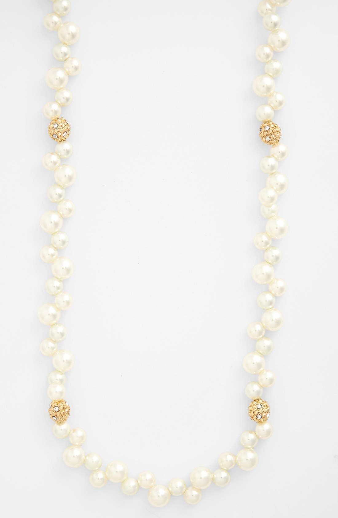 Alternate Image 2  - Anne Klein Long Faux Pearl Necklace