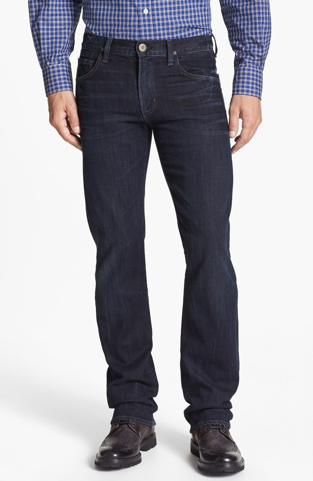 'Sid' Straight Leg Jeans,                         Main,                         color, Troy Wash