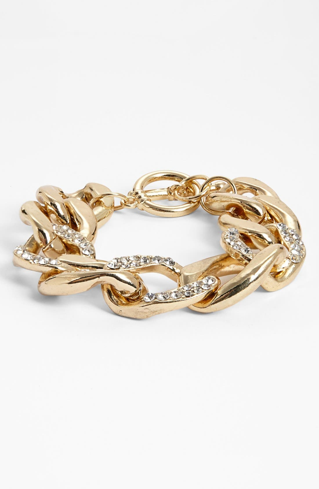 Alternate Image 1 Selected - Stephan & Co. Rhinestone Chain Link Bracelet (Juniors) (Online Only)