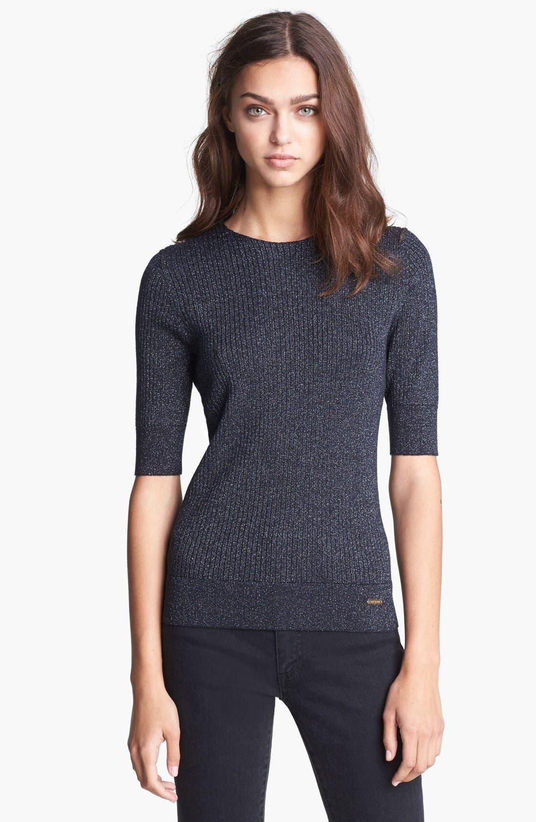 Alternate Image 1 Selected - Tory Burch 'Joella' Ribbed Sweater