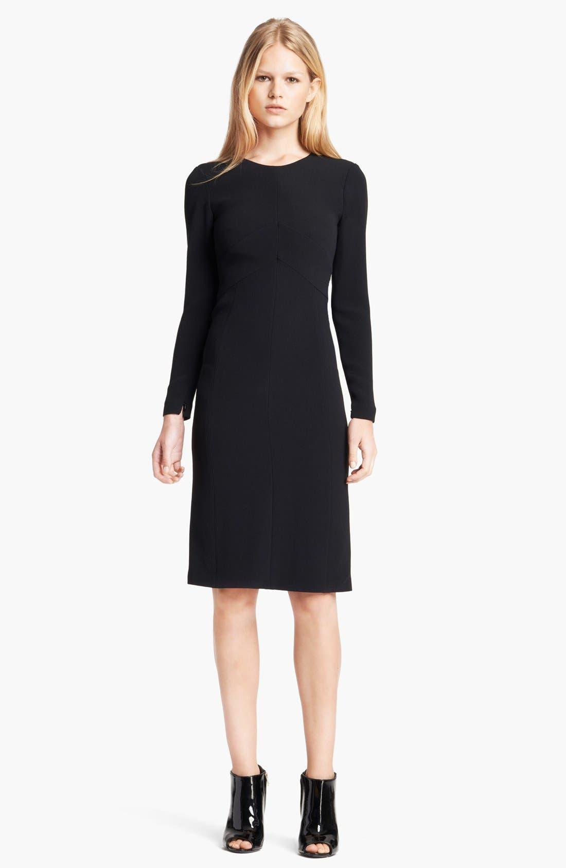 Main Image - Burberry Prorsum Chevron Detail Tailored Dress