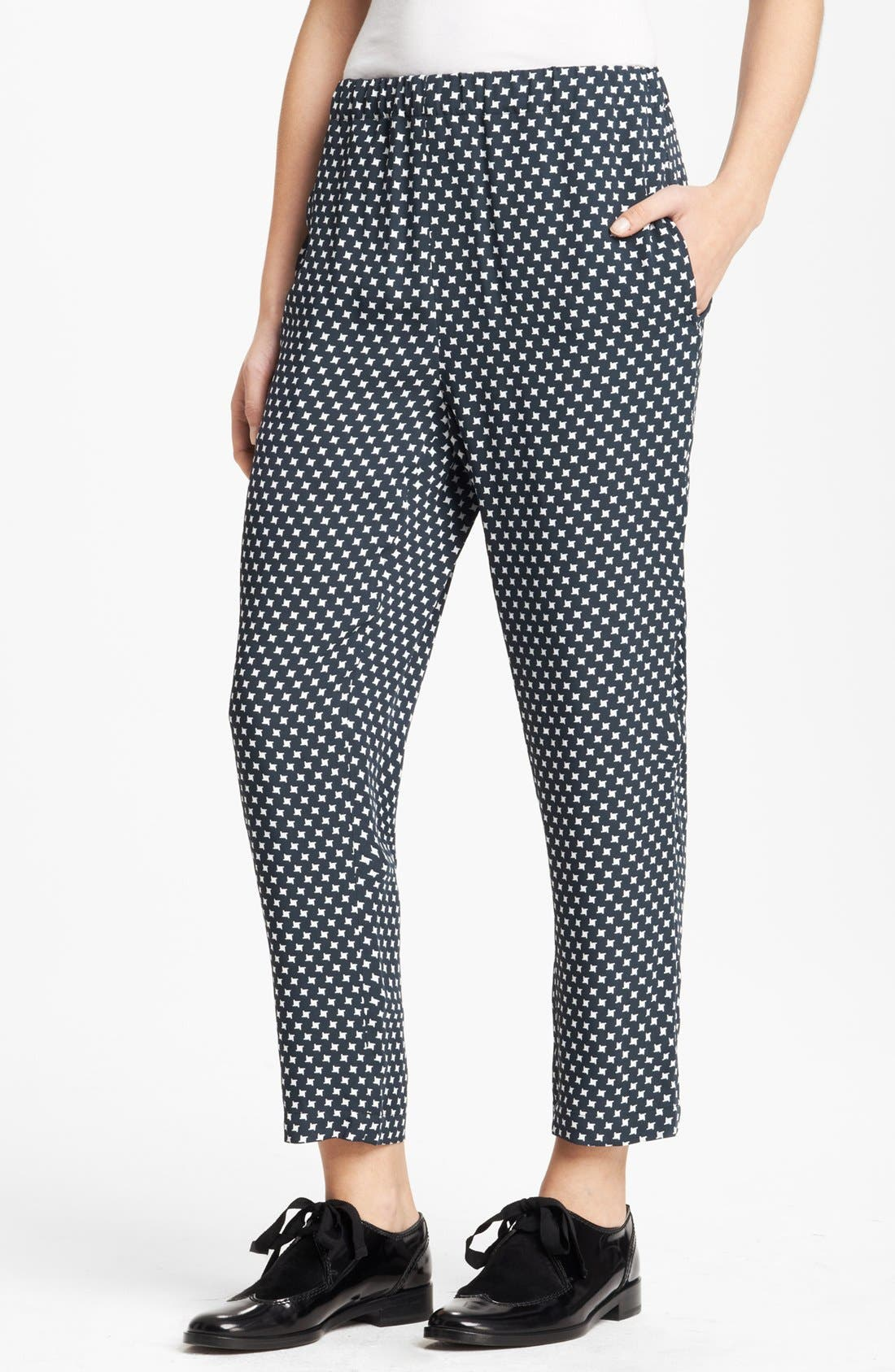 Alternate Image 1 Selected - Marni Houndstooth Print Crop Pants