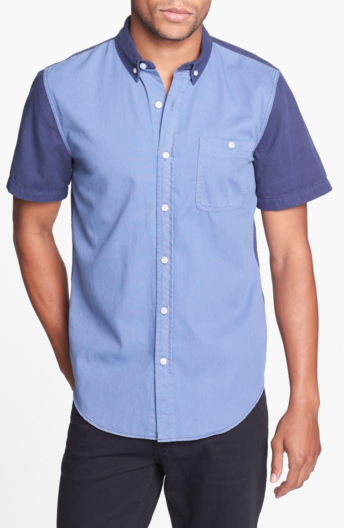 Alternate Image 1 Selected - Topman Tonal Panel Shirt