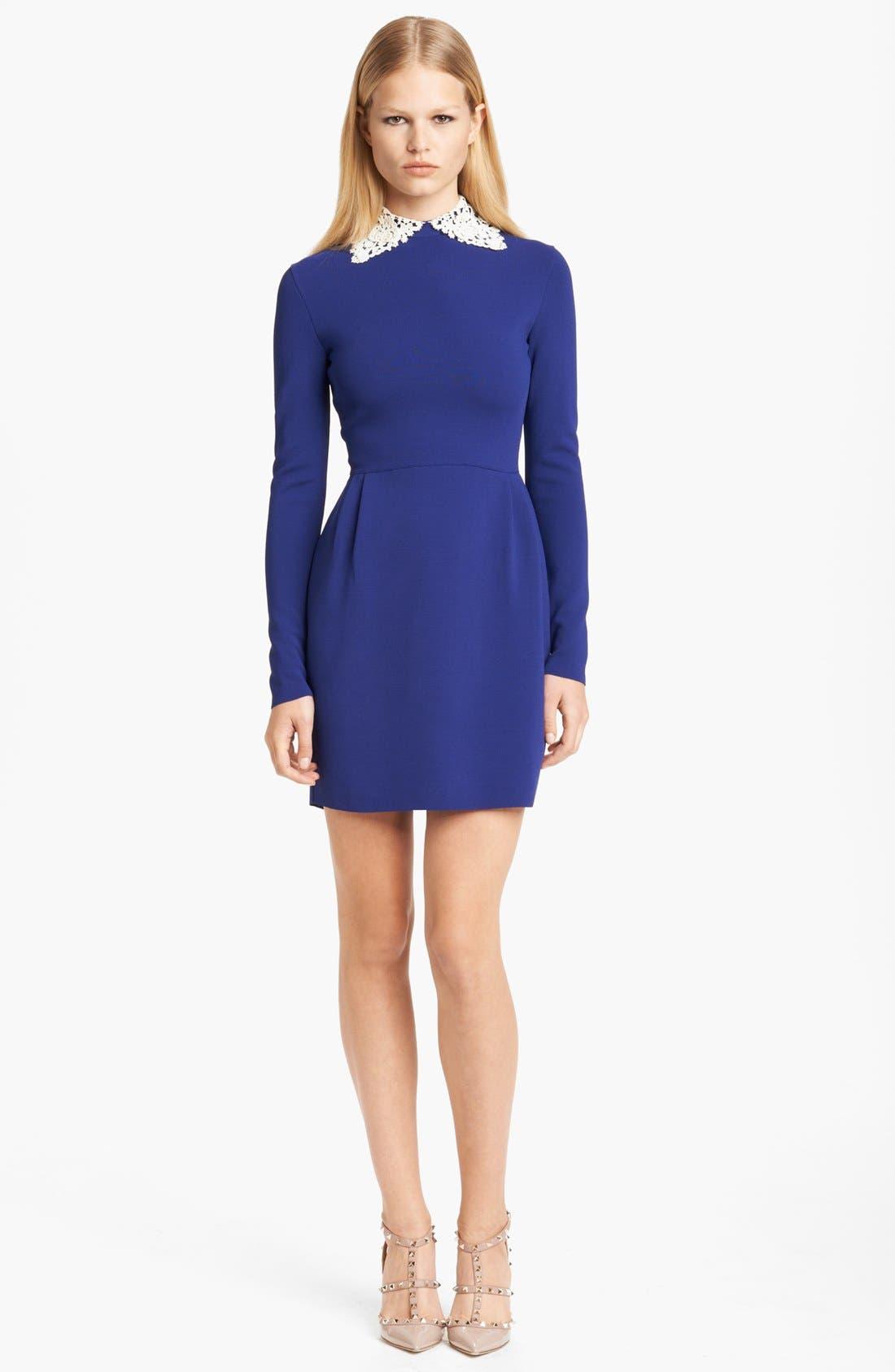 Main Image - Valentino Embroidered Collar Dress