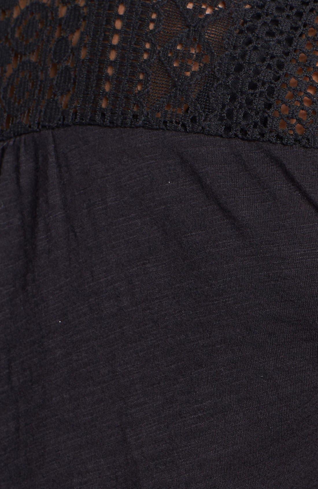 Alternate Image 3  - Lucky Brand Lace Tuxedo Bib Top (Plus Size)