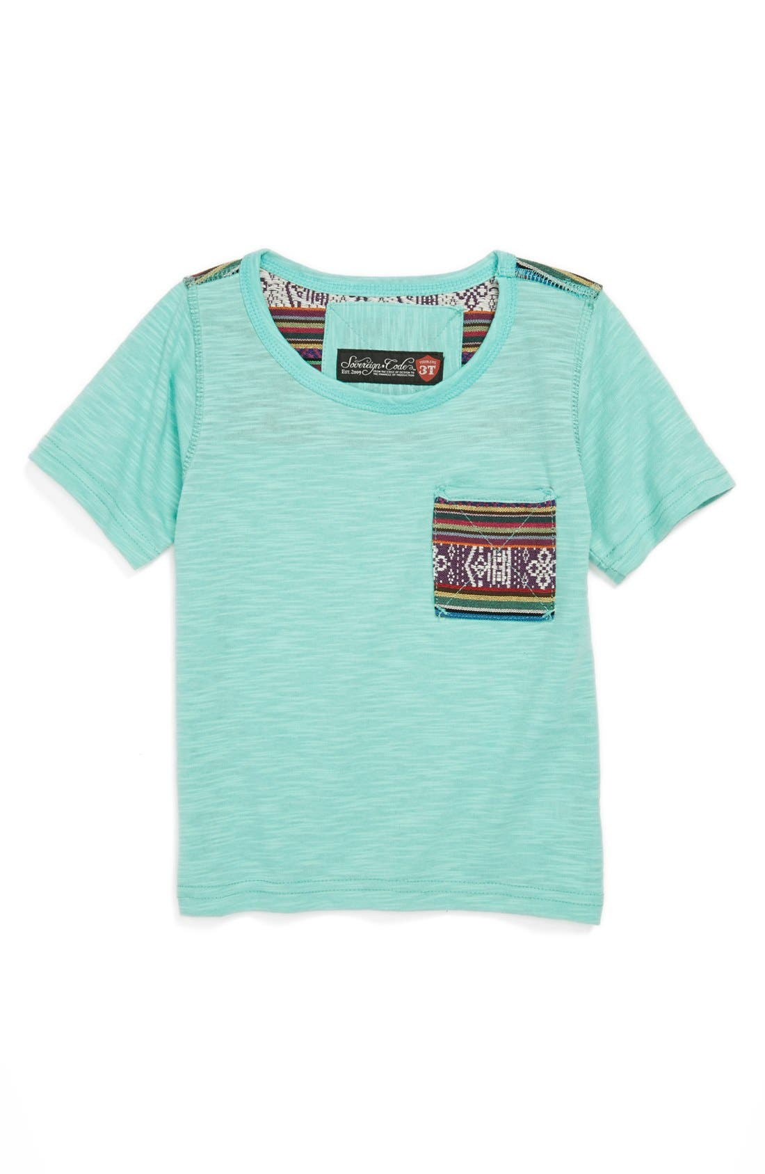 Alternate Image 1 Selected - Sovereign Code Contrast Pocket T-Shirt (Toddler Boys)