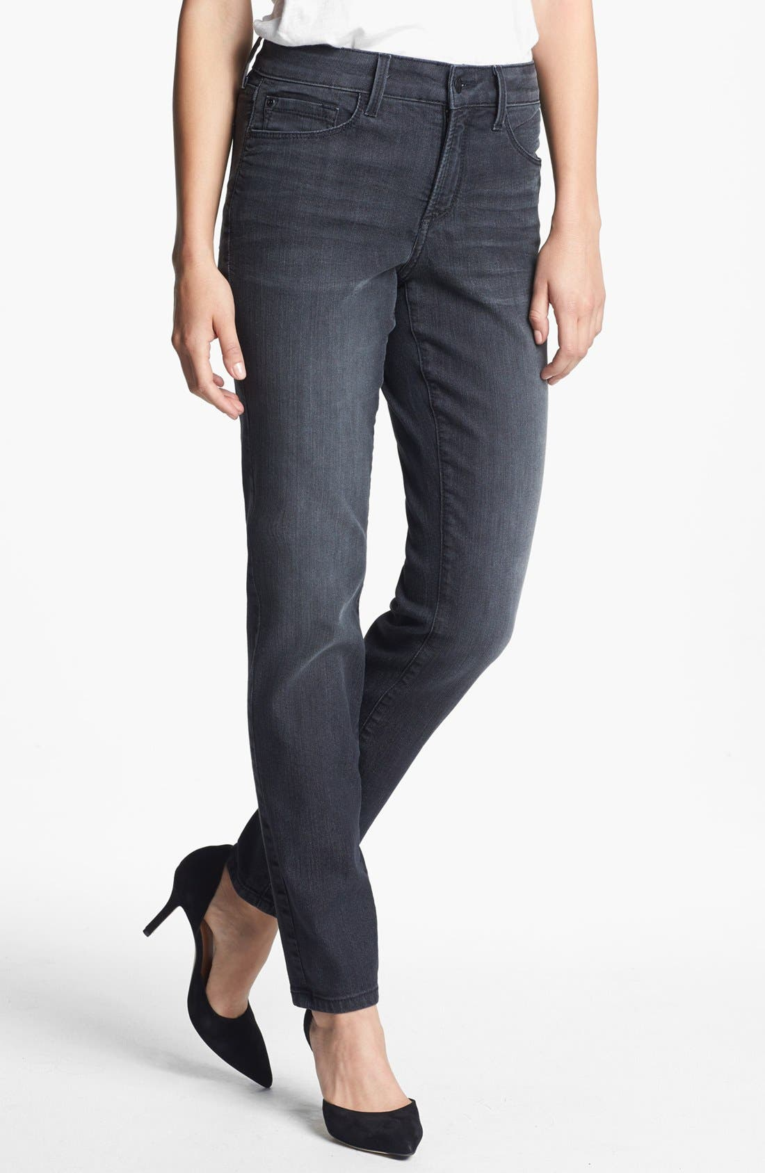 Alternate Image 1 Selected - NYDJ 'Alina' Stretch Skinny Jeans (Stoney River) (Regular & Petite)