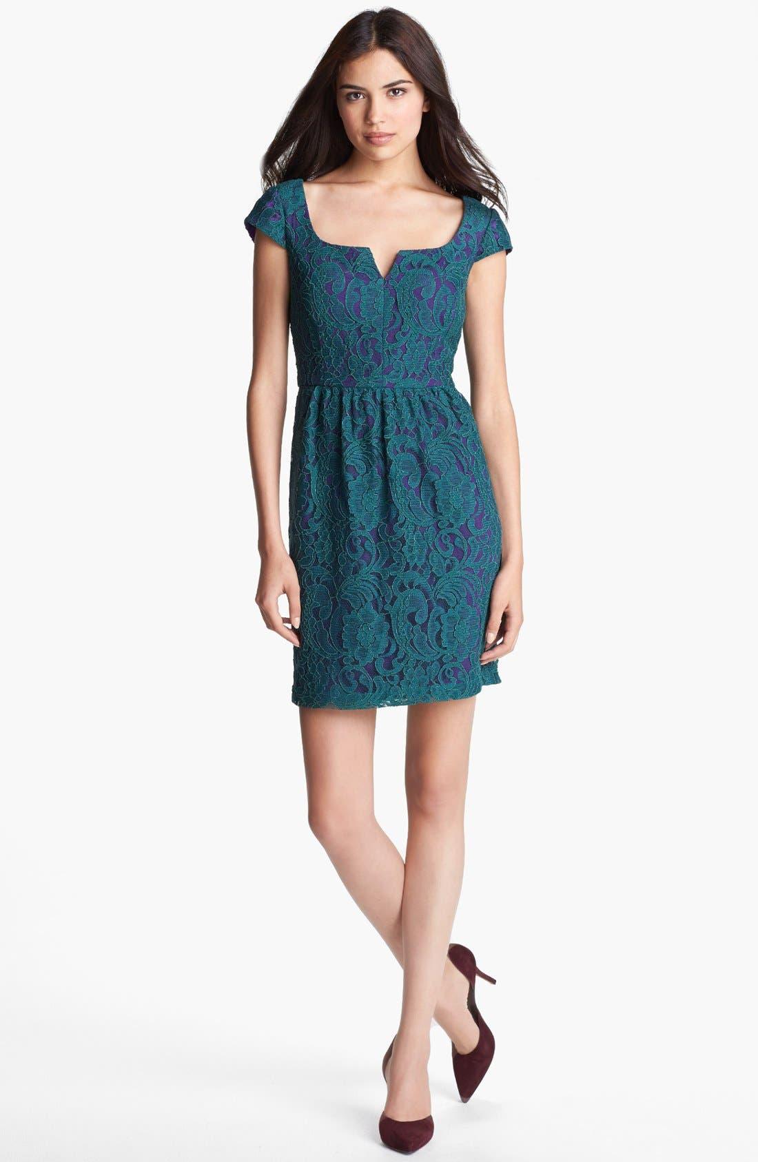 Main Image - Ivy & Blu Lace Sheath Dress