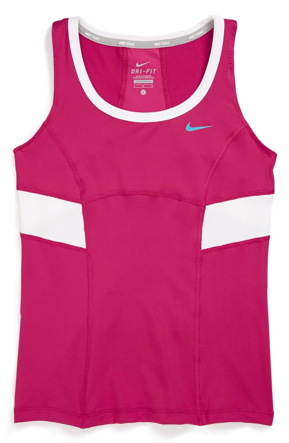 Main Image - Nike 'Power' Tennis Tank Top (Big Girls)