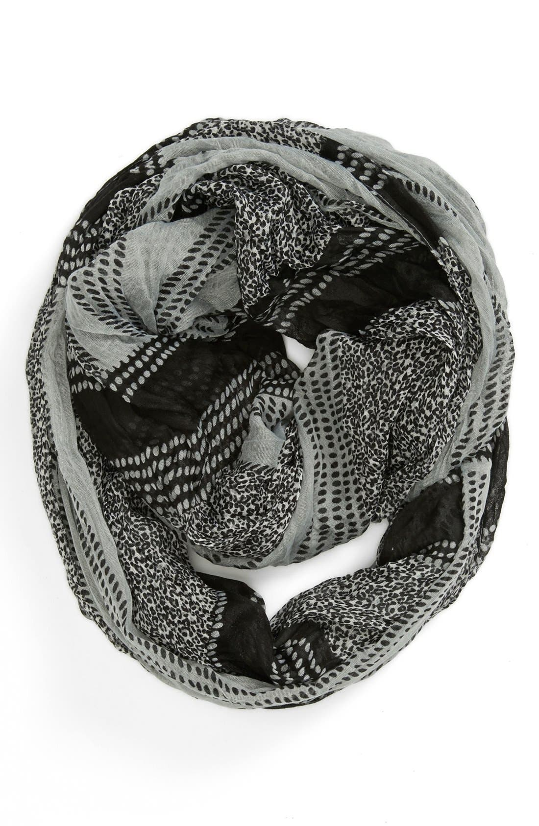 Alternate Image 1 Selected - Tarnish 'Variegated Leopard' Infinity Scarf
