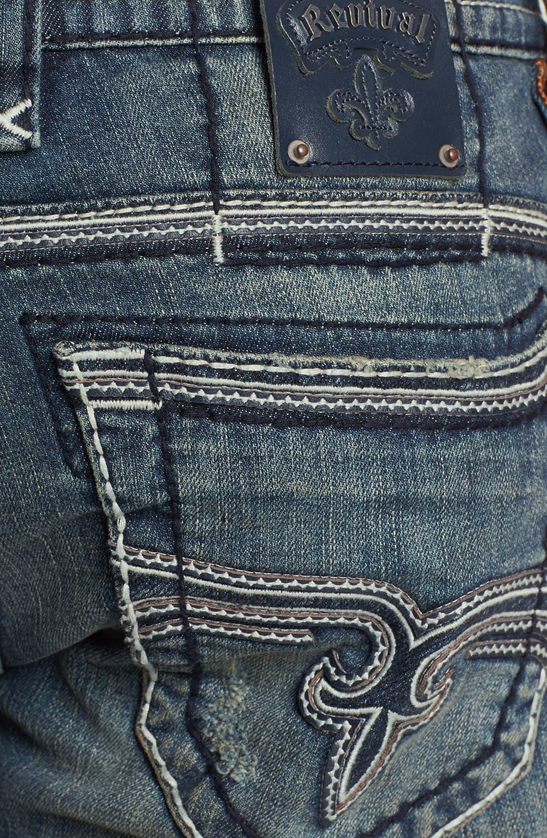 Alternate Image 2  - Rock Revival 'Jonathan' Straight Leg Jeans (Vintage Blue)
