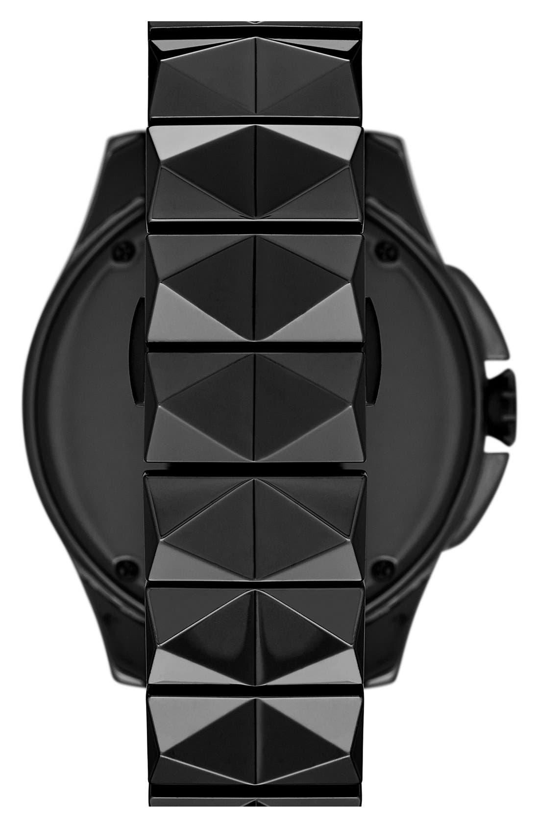 Alternate Image 2  - KARL LAGERFELD '7' Faceted Bezel Ceramic Bracelet Watch, 44mm