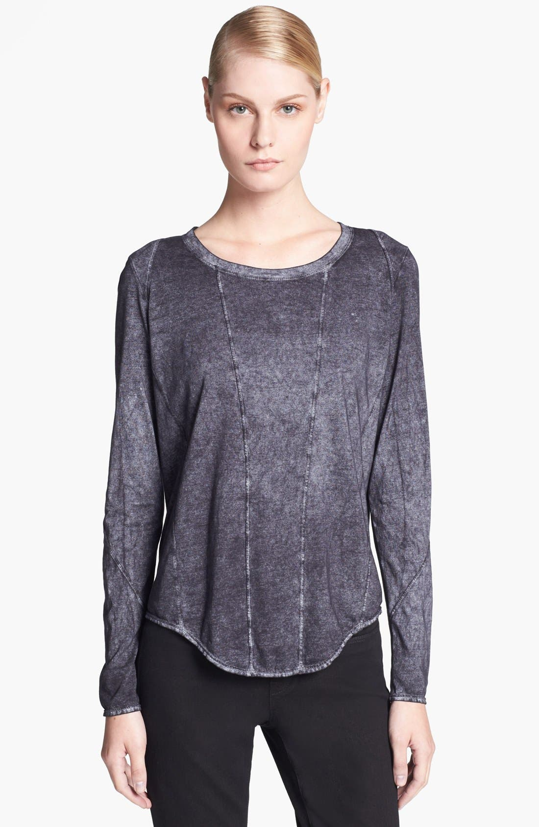 Alternate Image 1 Selected - HELMUT Helmut Lang 'Chalk' Long Sleeve Jersey Tee