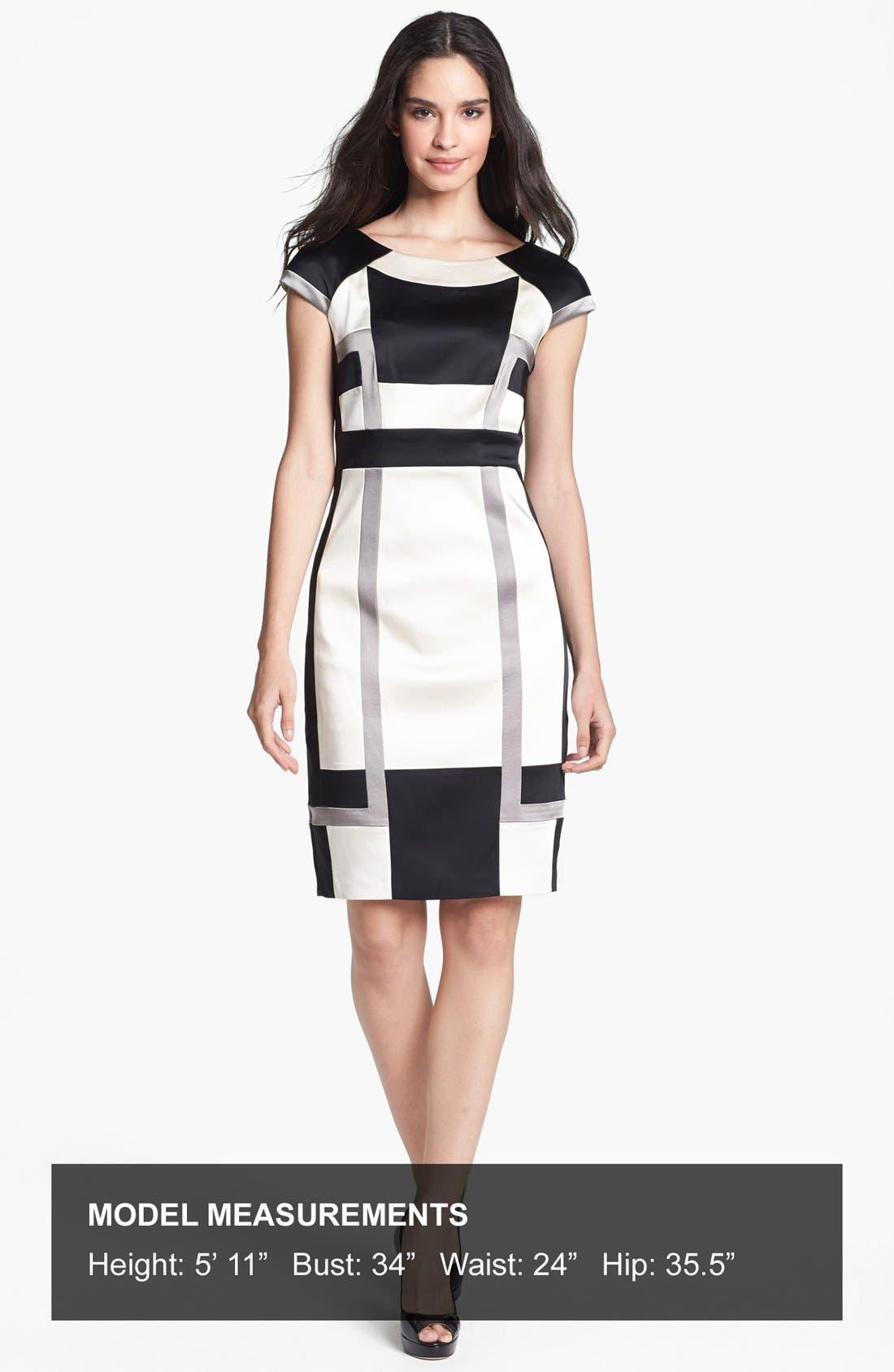 Alternate Image 4  - JAX Colorblock Cap Sleeve Sheath Dress