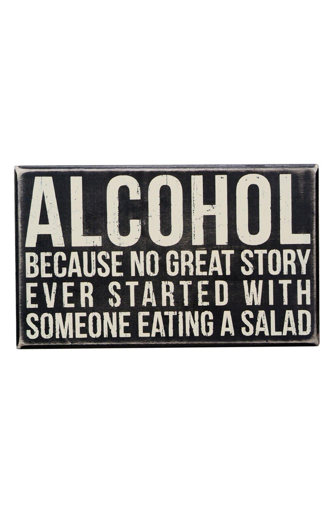 Main Image - Primitives by Kathy 'Alcohol' Box Sign