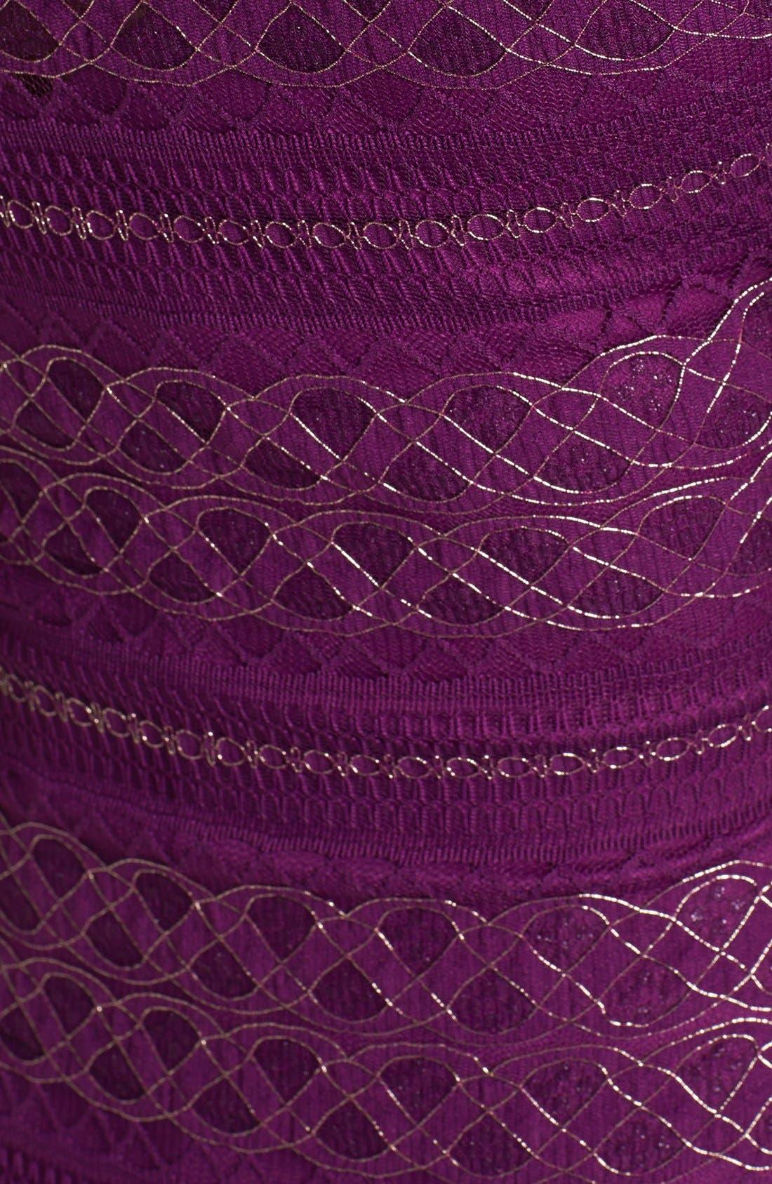 Alternate Image 3  - GUESS Metallic Lace Knit Sheath Dress