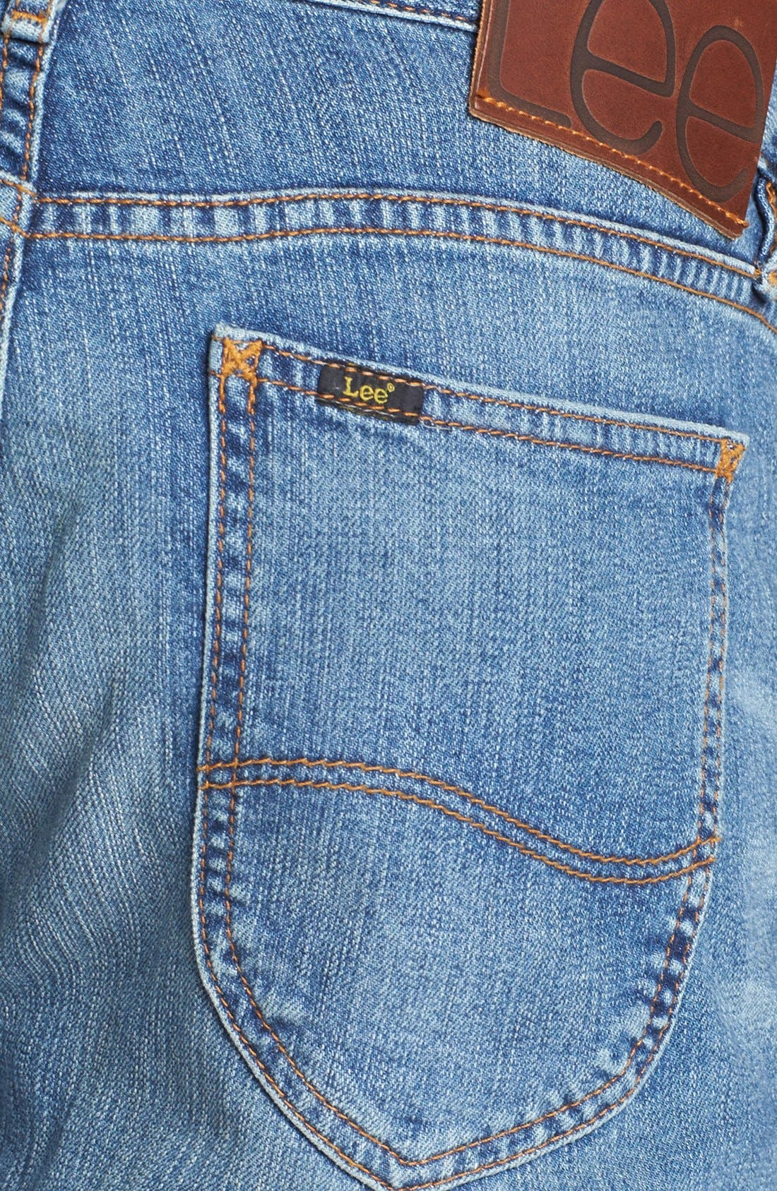 Alternate Image 4  - Lee 101 USA Lean Straight Leg Jeans (Dry Dust)