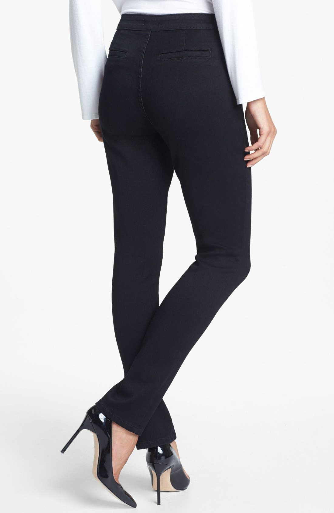 Alternate Image 2  - NYDJ 'Lotus' Stretch Skinny Jeans (Overdye Black)
