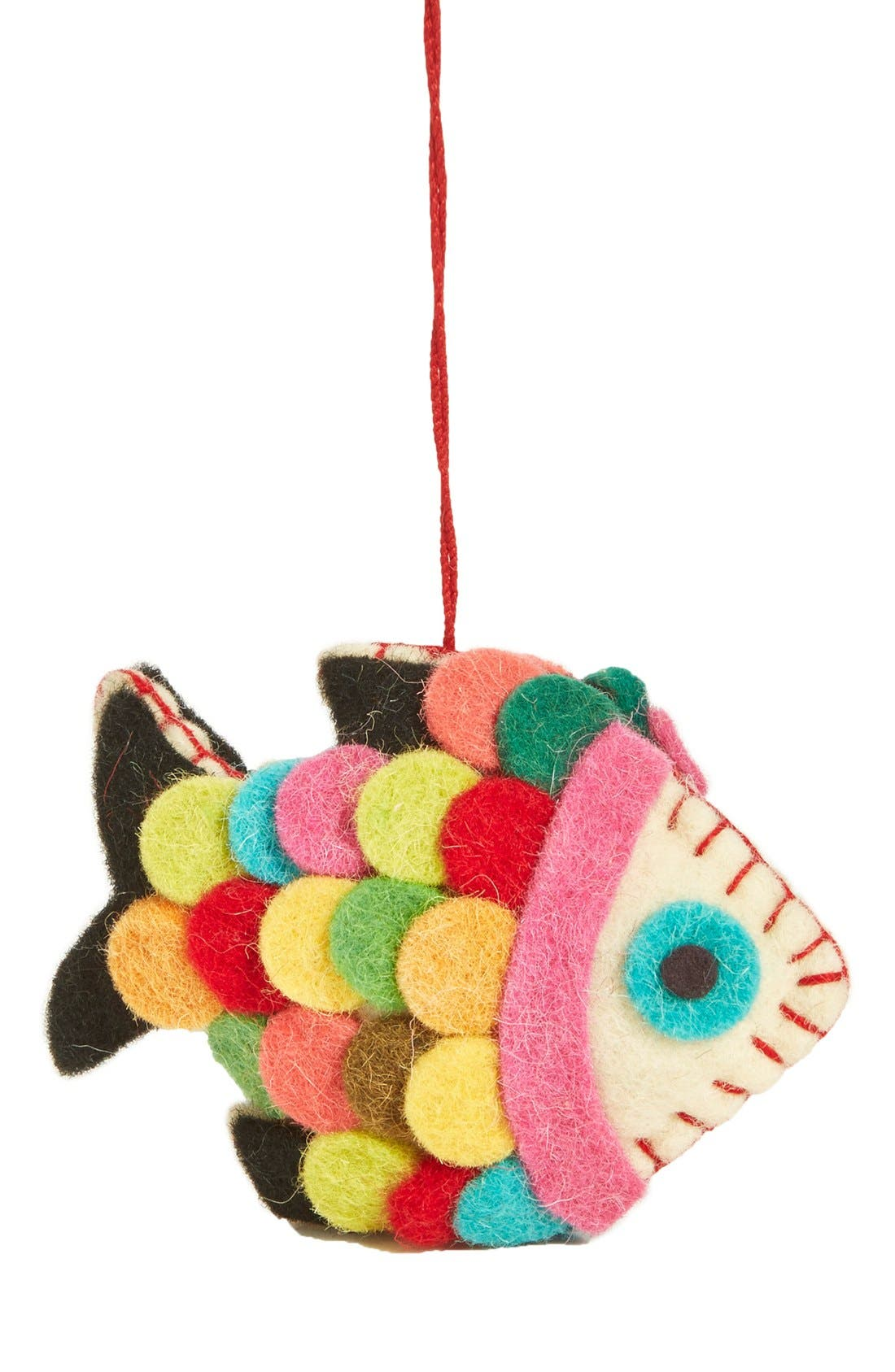 Alternate Image 1 Selected - Creative Co-Op Felt Fish Ornament