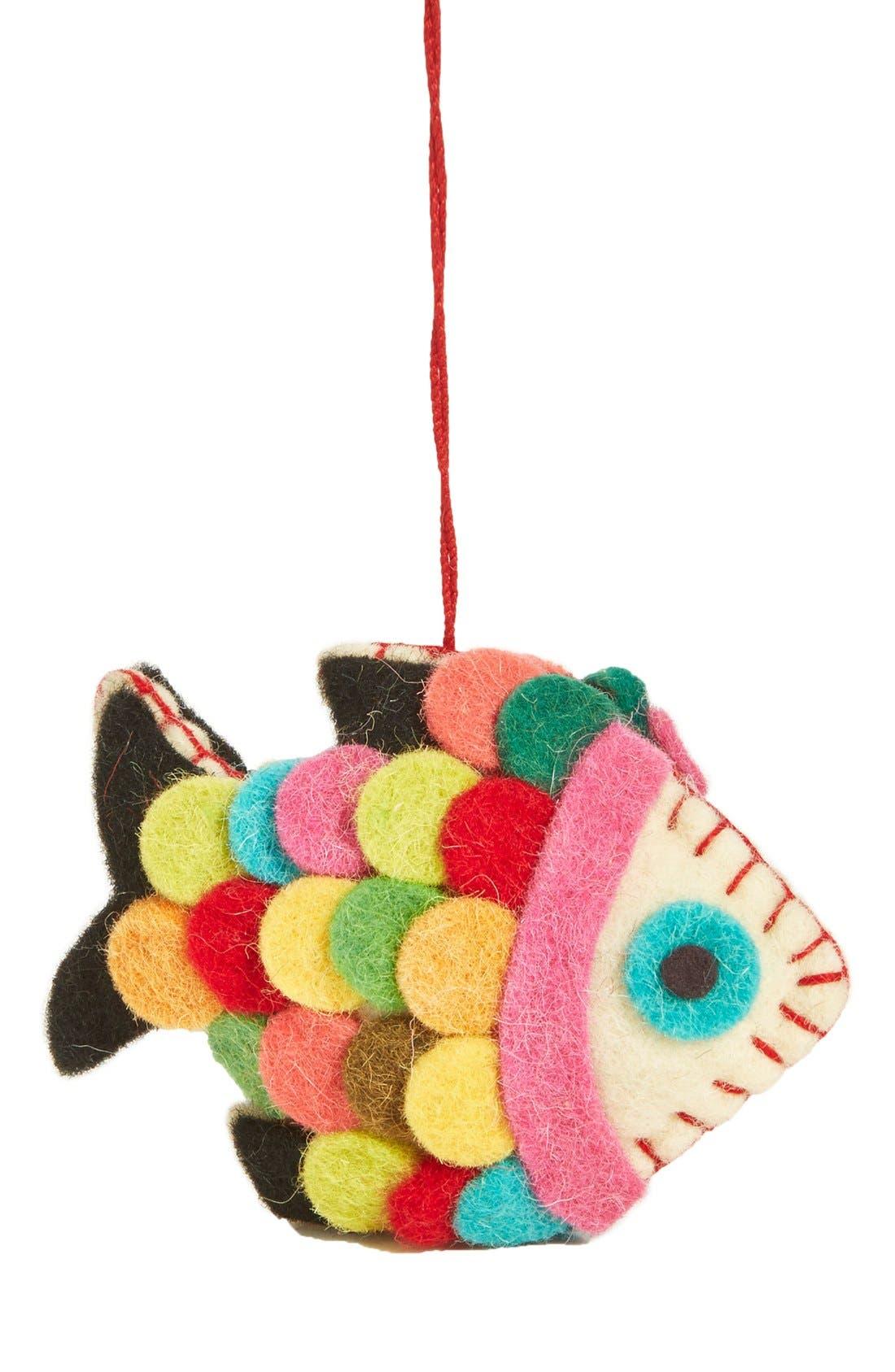 Main Image - Creative Co-Op Felt Fish Ornament