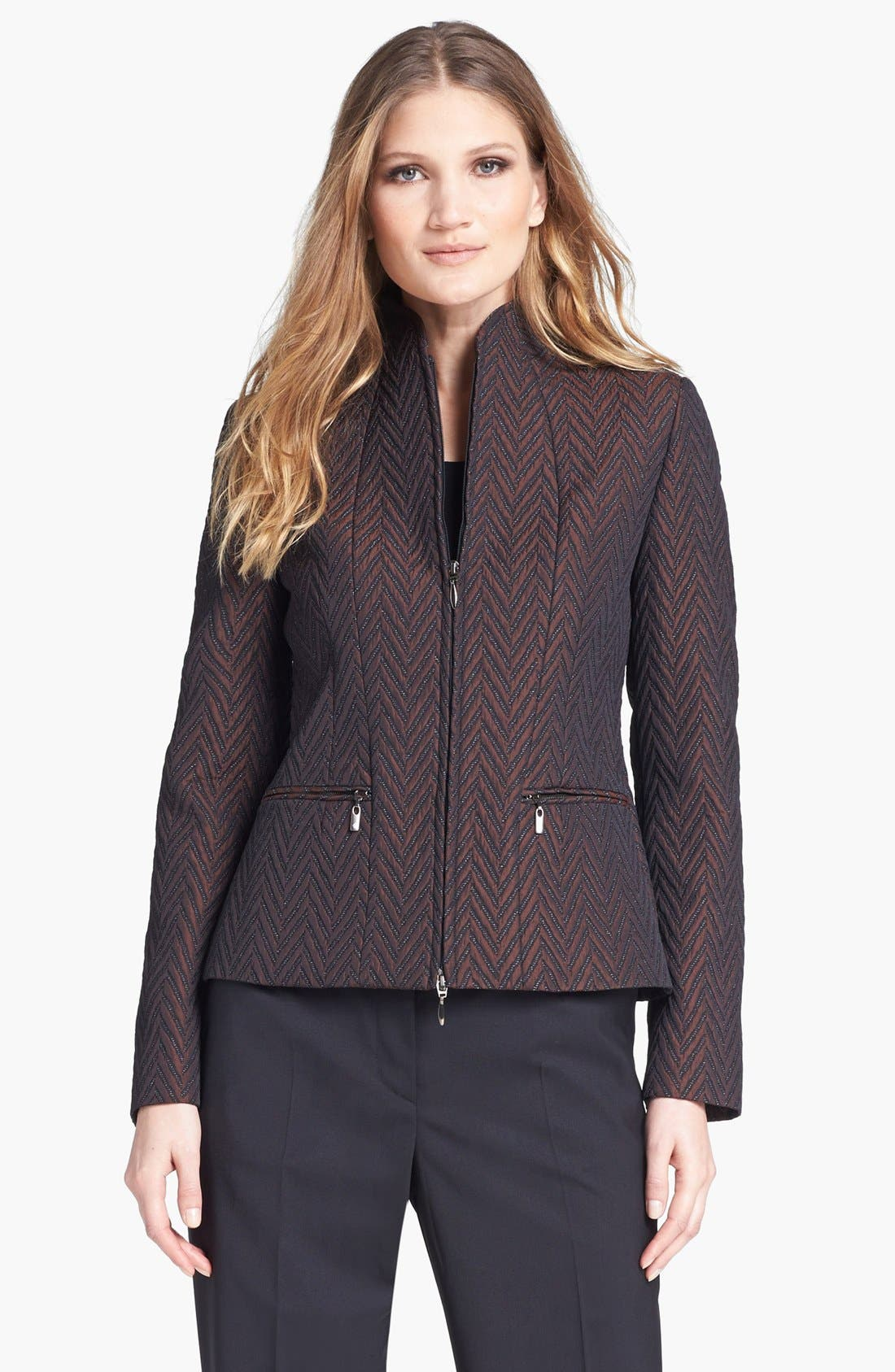 Alternate Image 1 Selected - Zanella Quilted Chevron Jacket