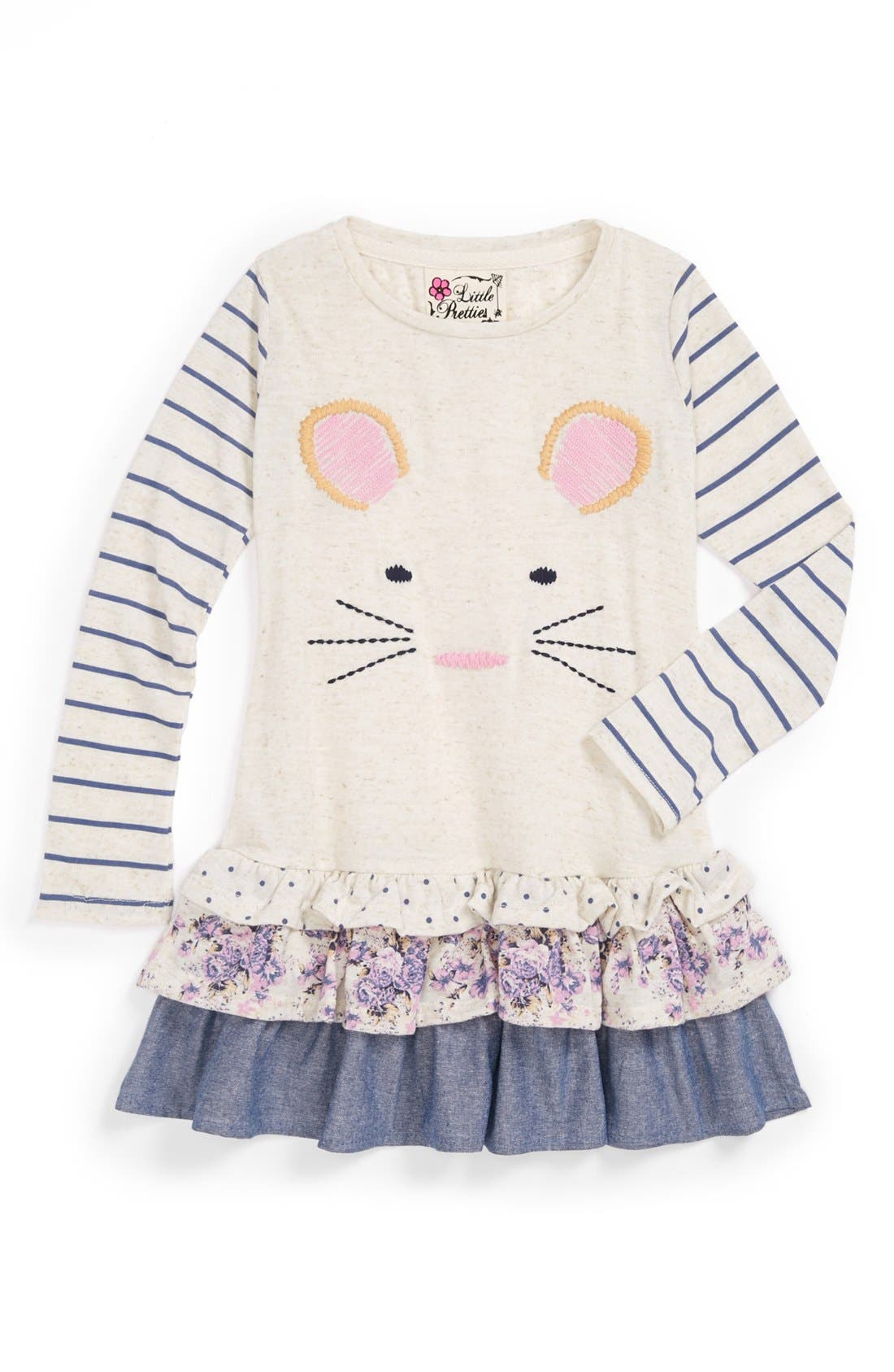 Alternate Image 1 Selected - Little Pretties 'Mouse' Tunic (Toddler Girls)
