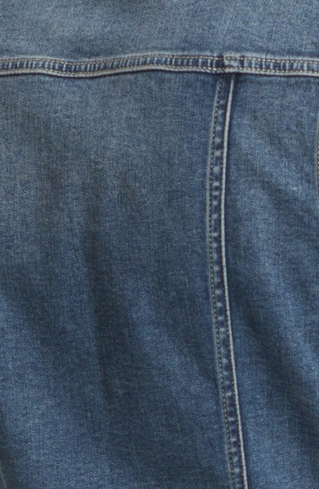 Alternate Image 3  - Two by Vince Camuto Vintage Wash Denim Vest (Petite)
