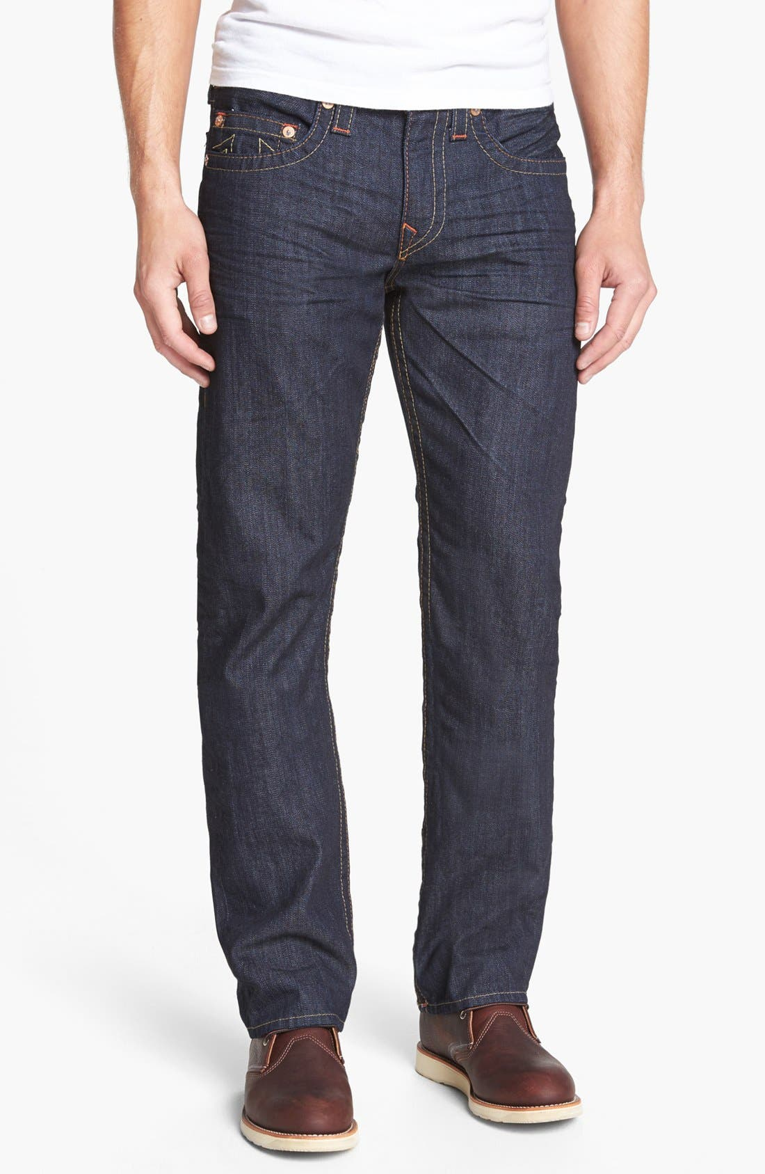 Alternate Image 2  - True Religion Brand Jeans 'Bobby' Straight Leg Jeans (Bz Inglorious)