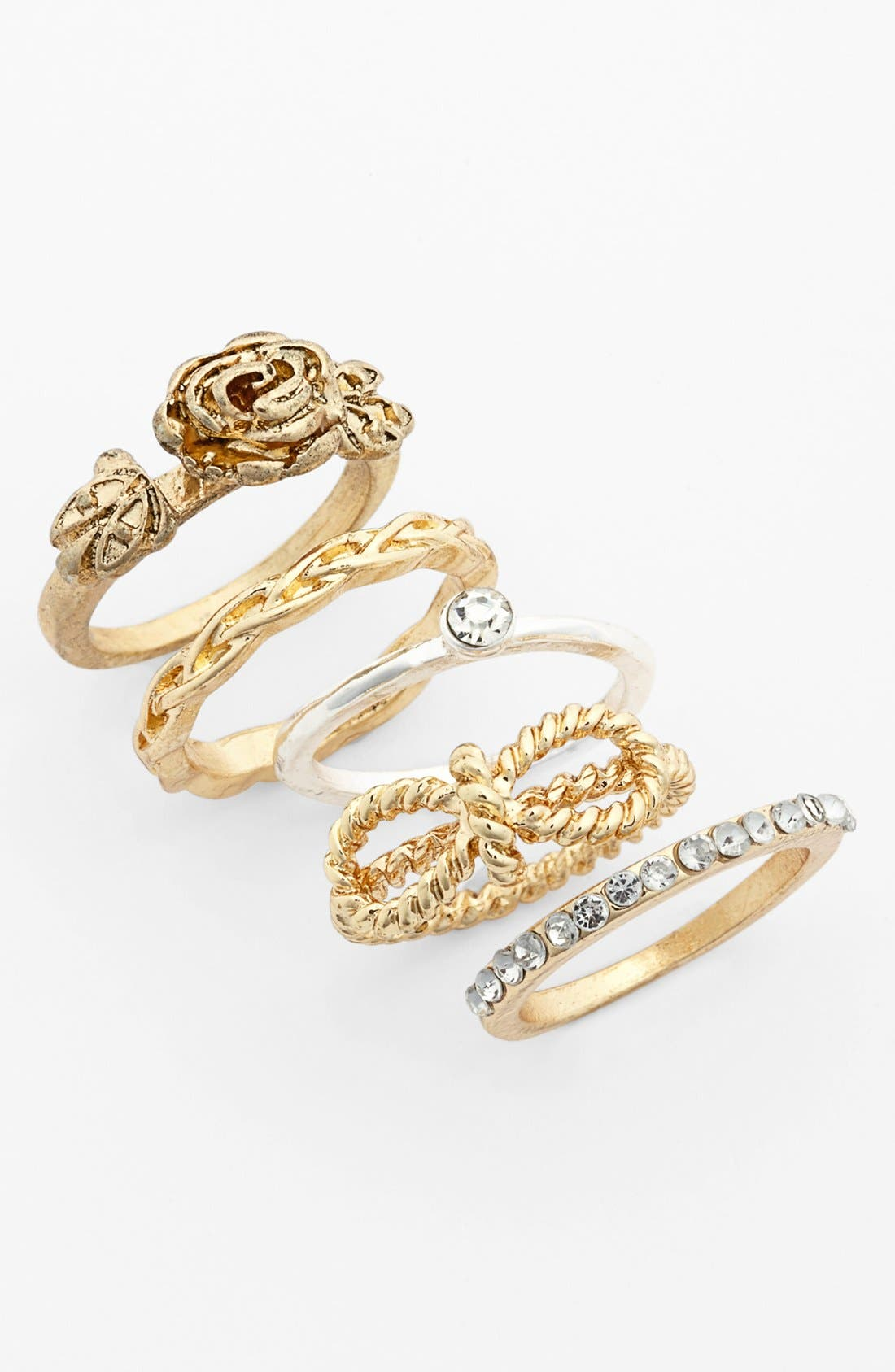 Alternate Image 1 Selected - Statements by DCK Stackable Rings (Set of 5) (Juniors)