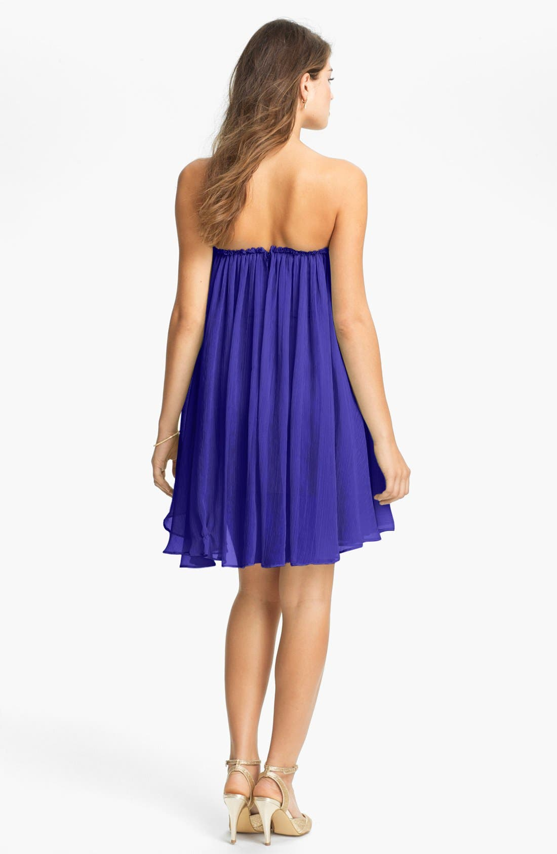 Alternate Image 2  - BLAQUE LABEL Chiffon Babydoll Dress