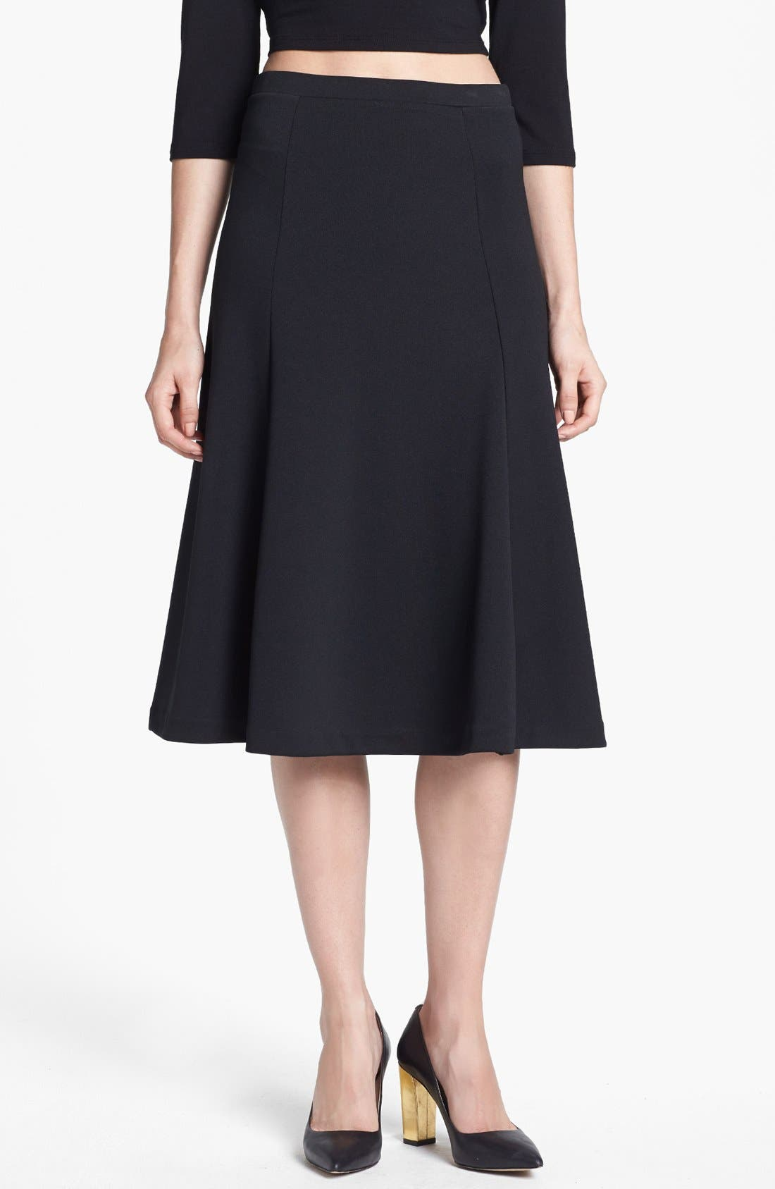 Alternate Image 1 Selected - Tildon Flared Midi Skirt