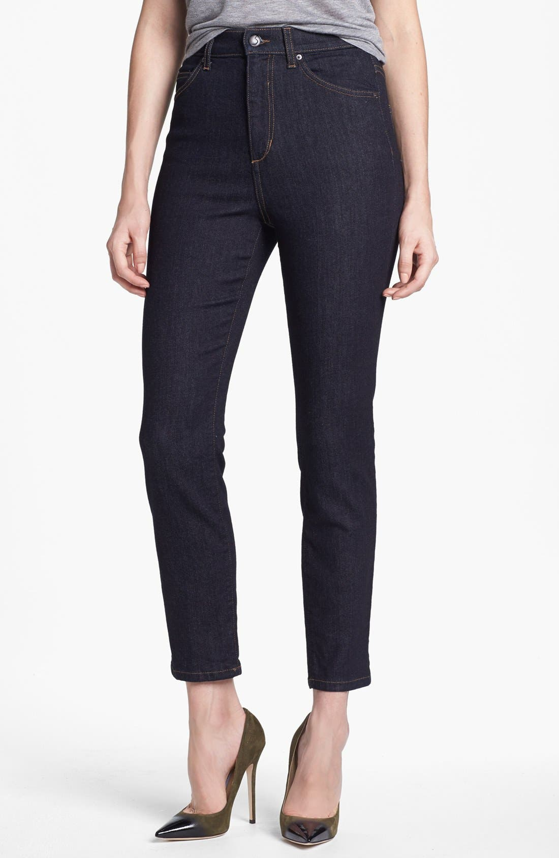 Alternate Image 1 Selected - Joe's High Rise Straight Leg Ankle Jeans (Everleigh)