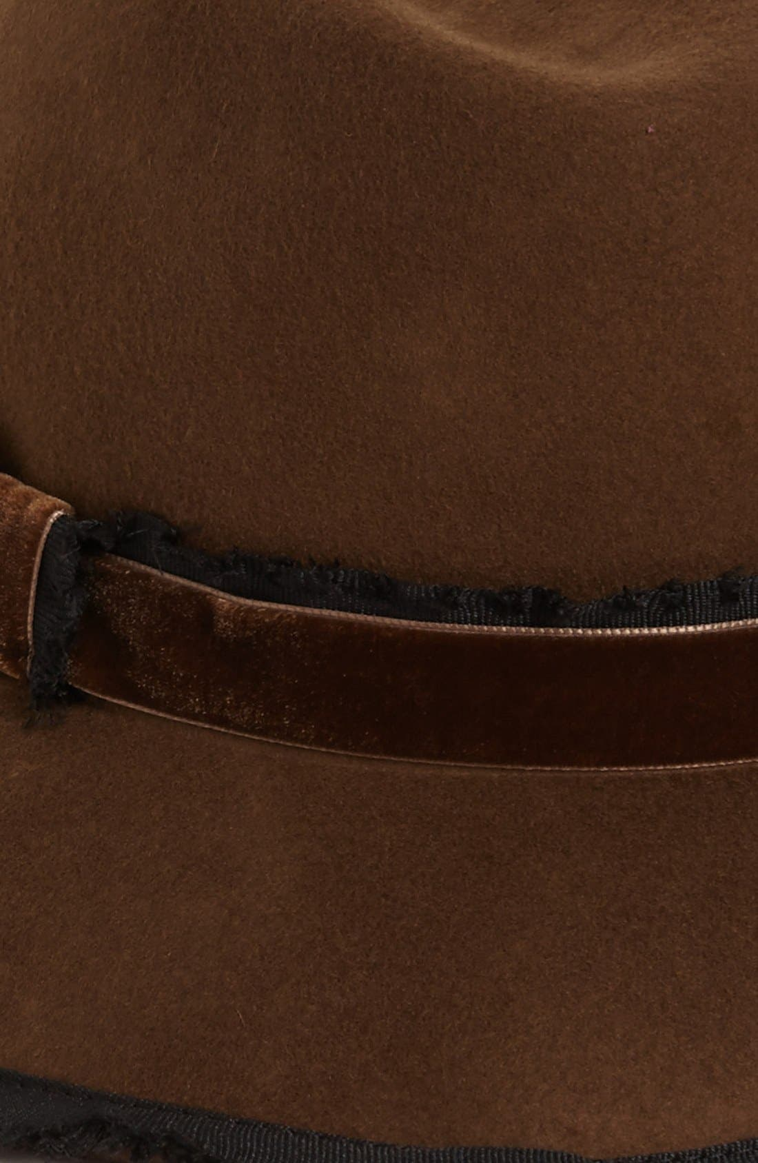 Alternate Image 2  - Nordstrom Fringe Ribbon Wool Felt Fedora