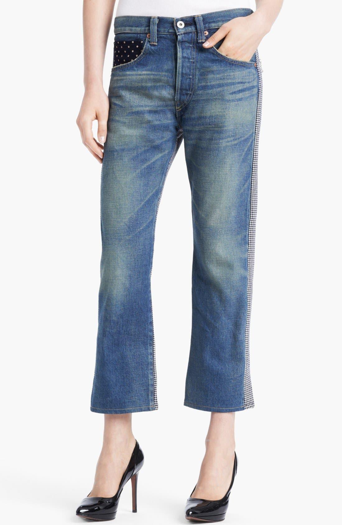 Alternate Image 1 Selected - Junya Watanabe Houndstooth Back Boyfriend Jeans