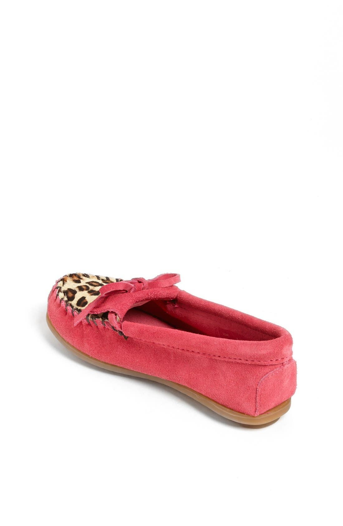 Alternate Image 2  - Minnetonka 'Kilty - Leopard' Moccasin (Walker, Toddler, Little Kid & Big Kid)