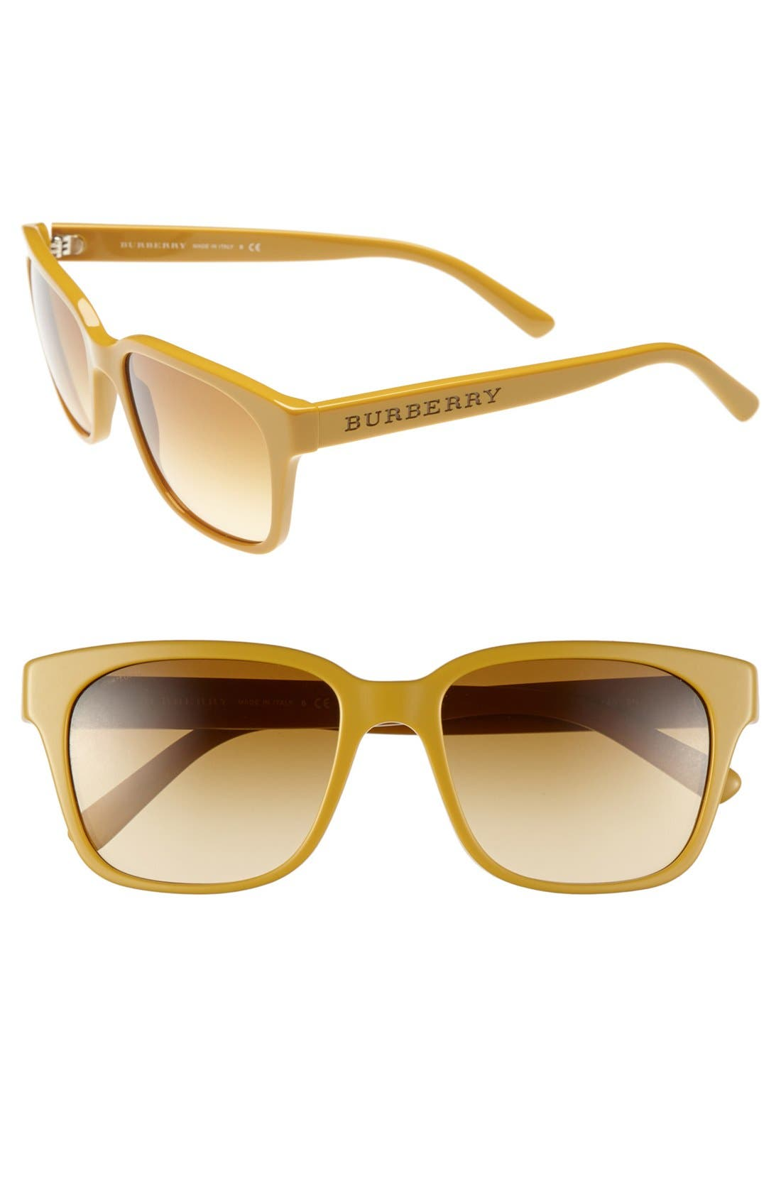 Alternate Image 1 Selected - Burberry 'Splash' 55mm Sunglasses