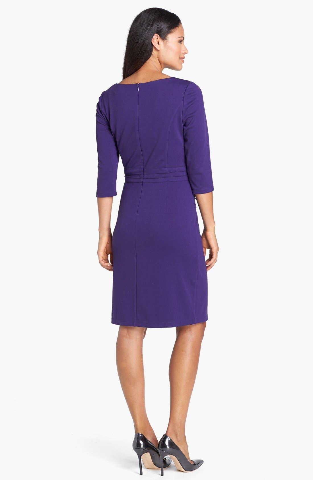 Alternate Image 2  - Ellen Tracy Seamed Ponte Knit Sheath Dress