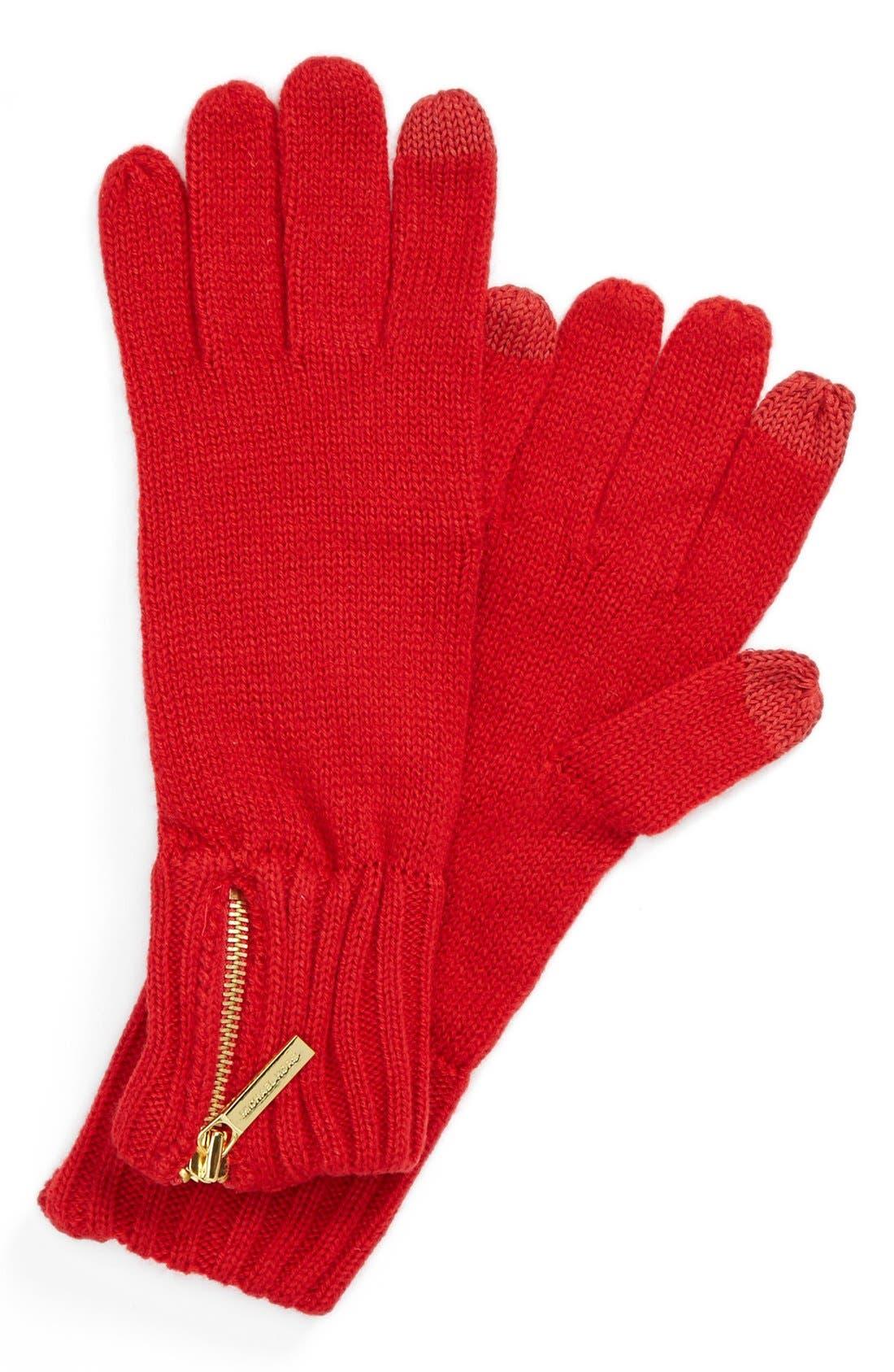 Main Image - MICHAEL Michael Kors Touch Screen Zip Glove