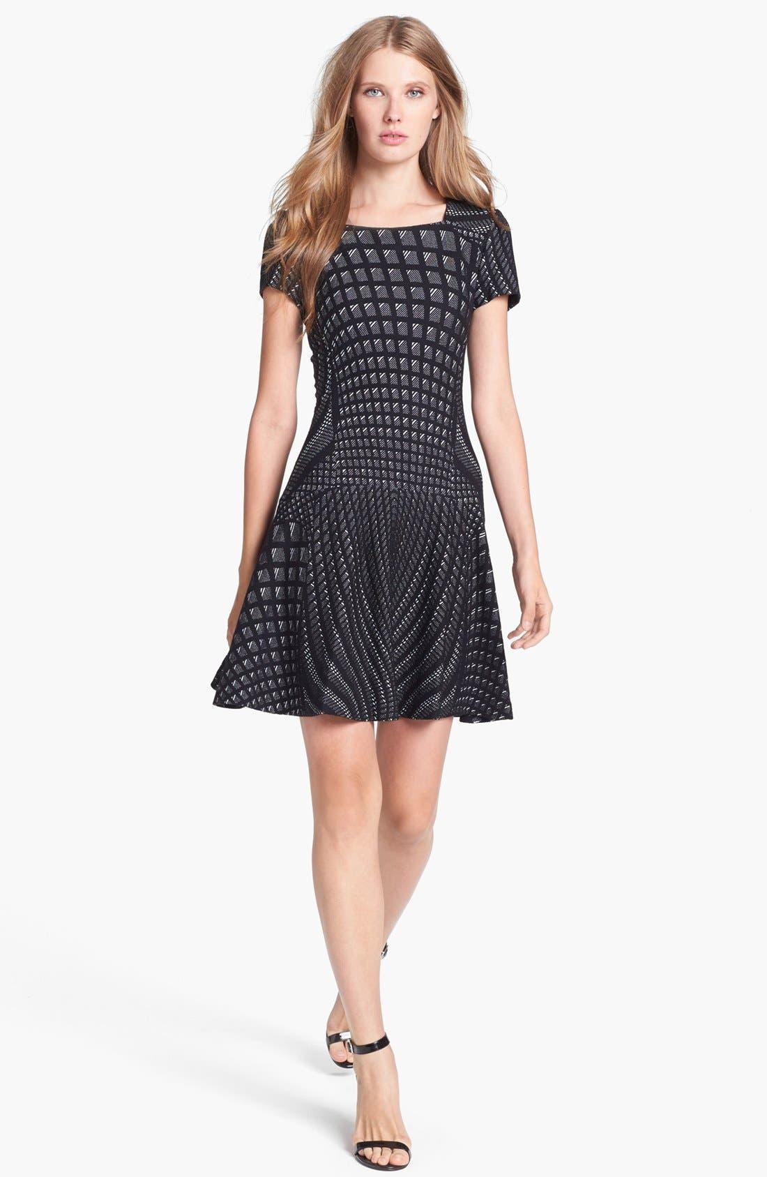 Alternate Image 1 Selected - Diane von Furstenberg 'Hansine' Knit A-Line Dress