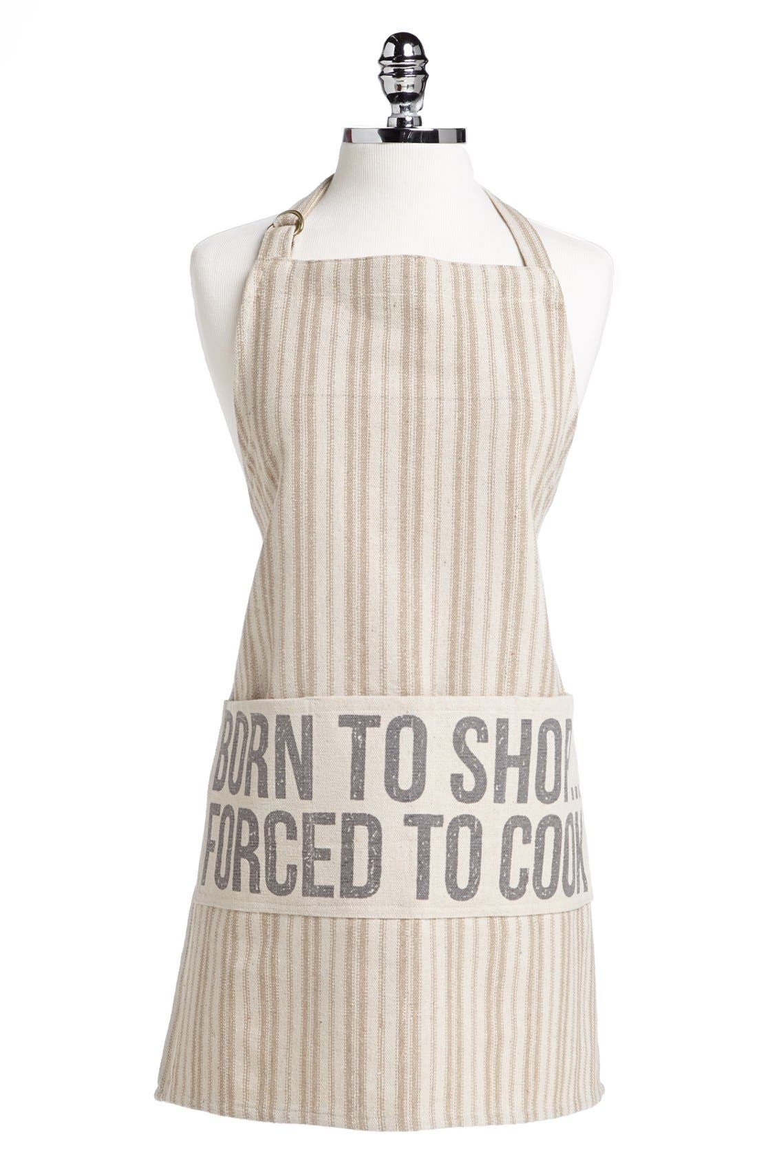 Main Image - Primitives by Kathy 'Born to Shop. Forced to Cook.' Apron