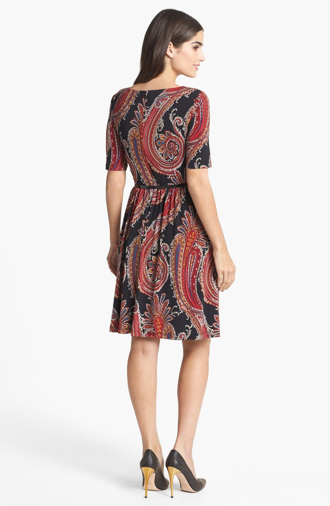 Alternate Image 2  - Ellen Tracy Print Jersey Fit & Flare Dress