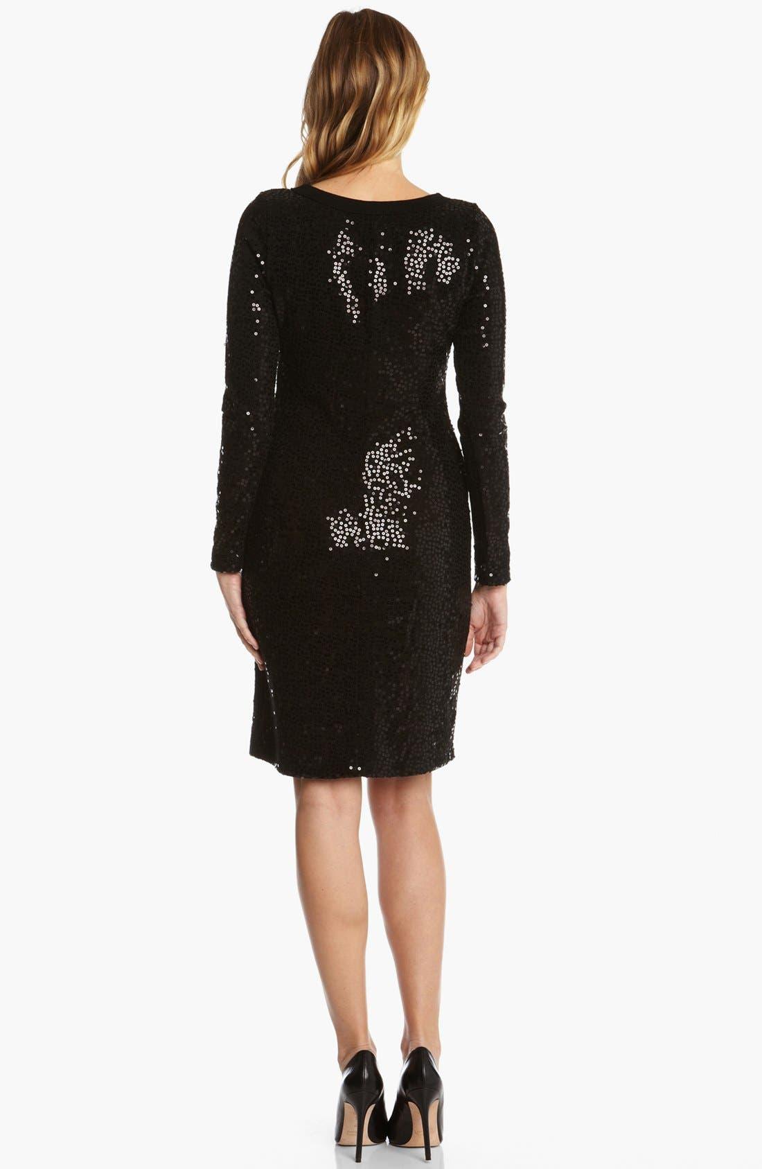 Alternate Image 2  - Karen Kane Sequin Sweater Dress
