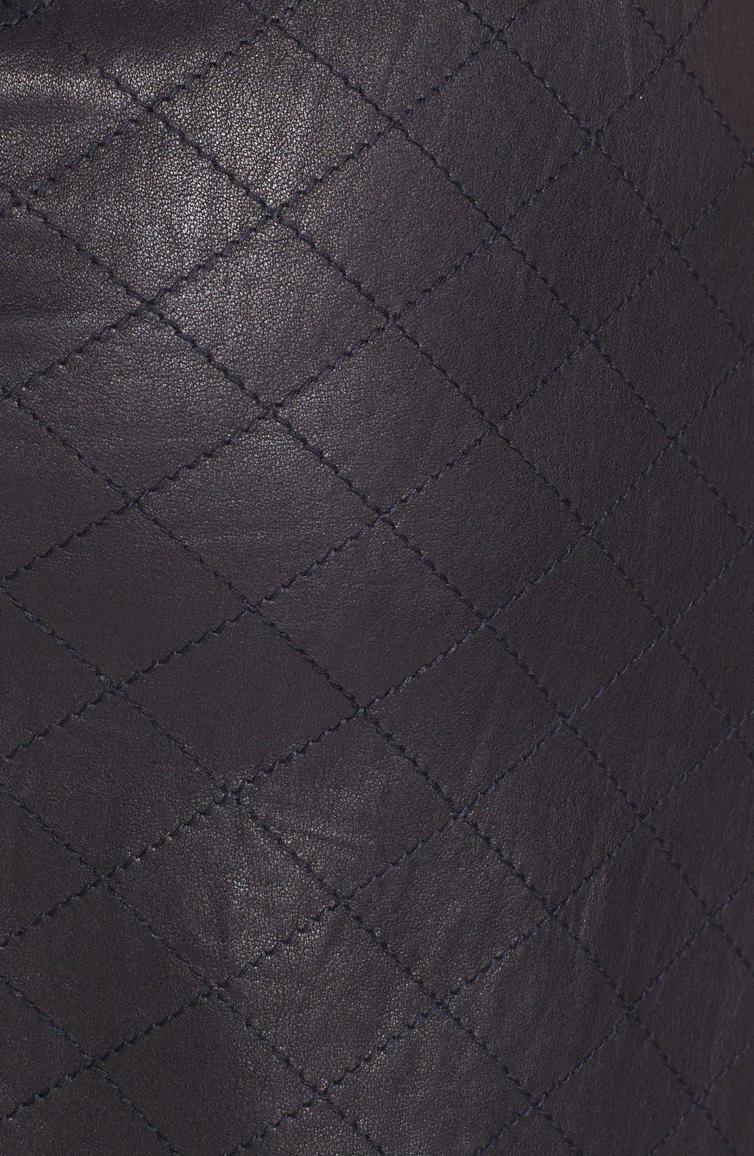 Alternate Image 3  - Alice + Olivia 'Brigatta' Leather Miniskirt