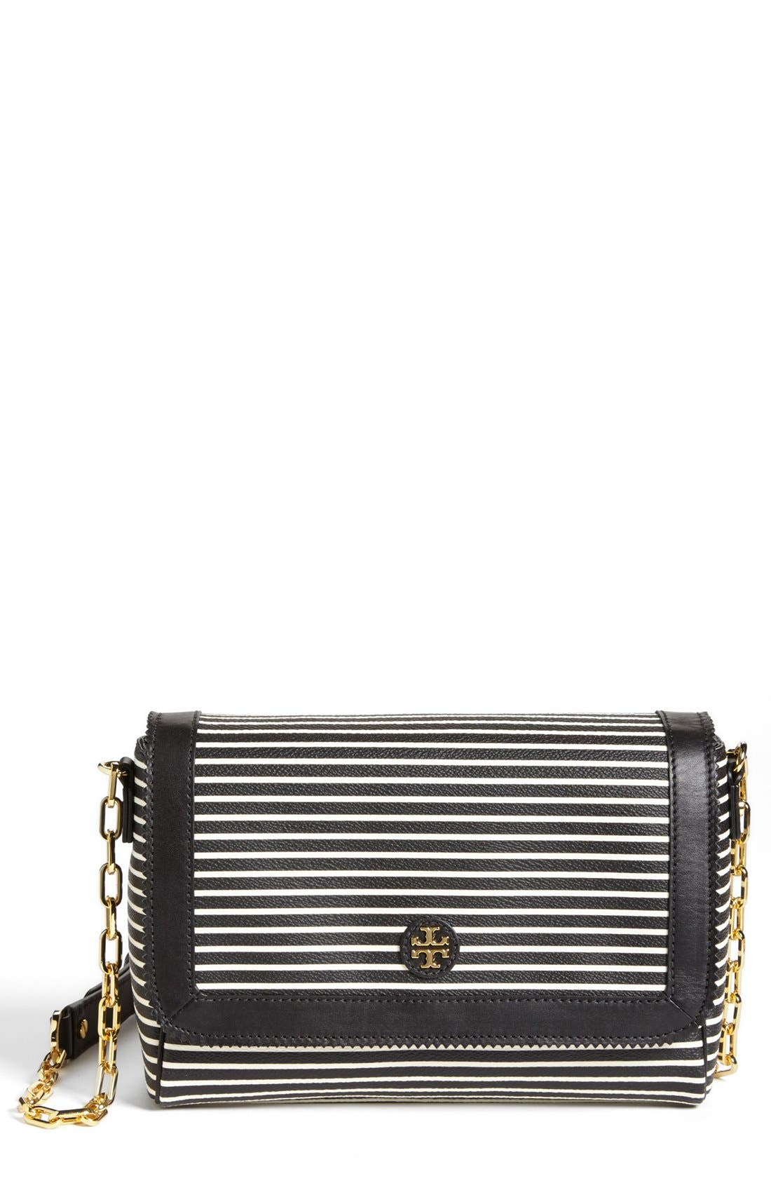 Alternate Image 1 Selected - Tory Burch 'Viva' Canvas & Leather Crossbody Bag