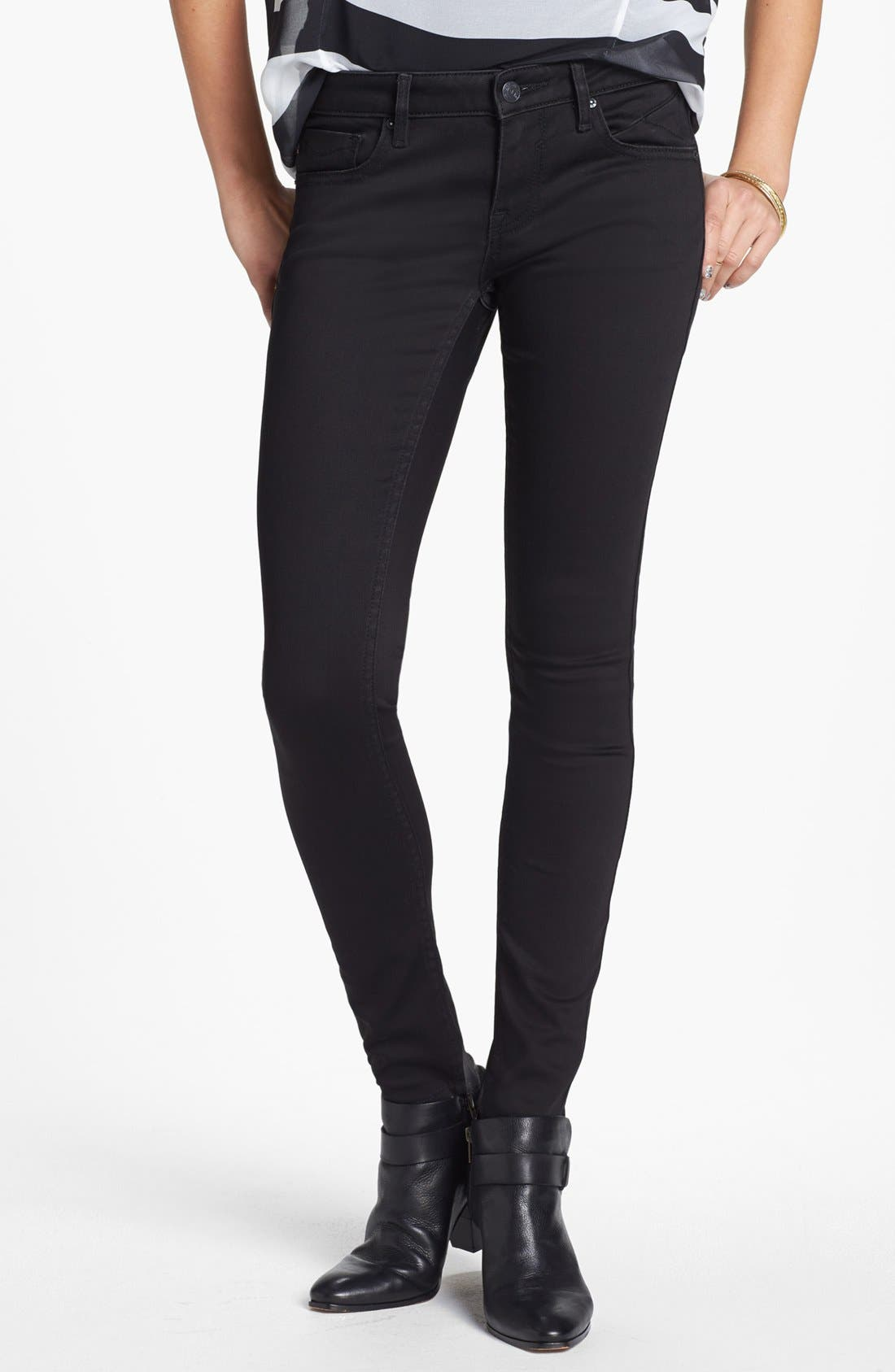 Alternate Image 1 Selected - Vigoss 'Chelsea' Super Stretchy Skinny Jeans (Juniors) (Online Only)