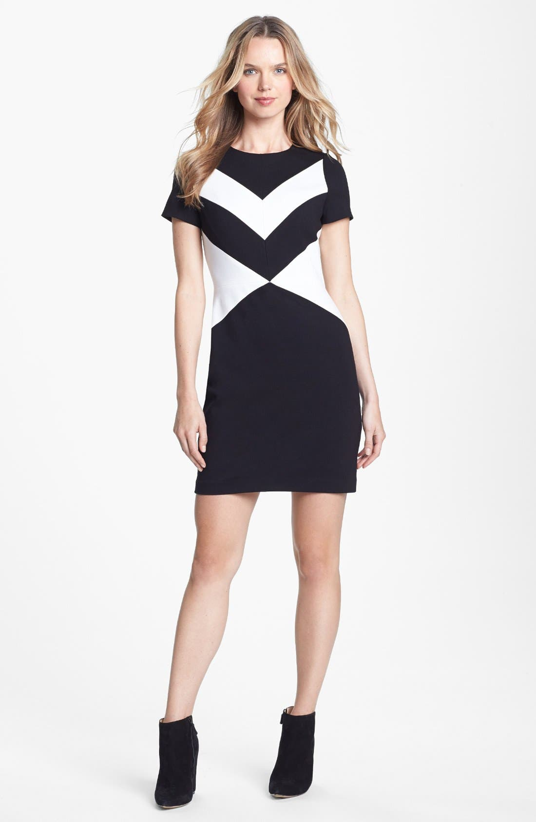 Alternate Image 1 Selected - Vince Camuto Cap Sleeve Sheath Dress