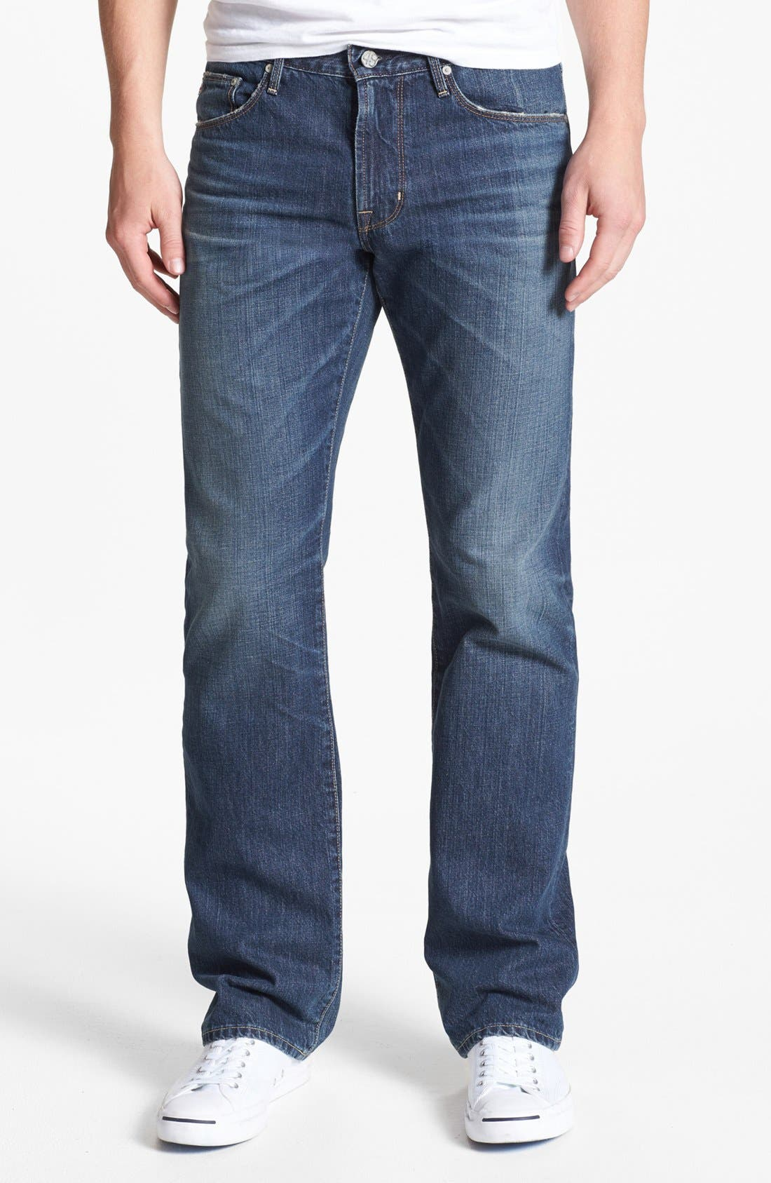Alternate Image 1 Selected - AG 'Protégé' Straight Leg Jeans (18 Years Carve)